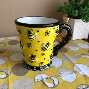 Striped bee 3D Look planter mug
